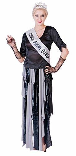 JUNPAI Women's Role Costume Ghoul Prom Queen Including He...
