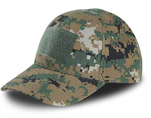 Tactical Camouflage Hat US Army Tactical Baseball Cap Men Casual Rip-Stop Adjustable Paintball Combat Caps,Woodland Digital