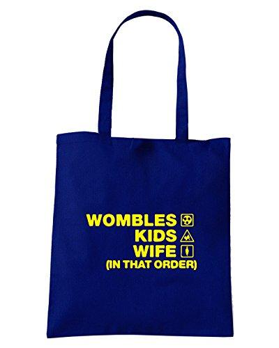 T-Shirtshock - Bolsa para la compra WC1106 wombles-kids-wife-order-tshirt design Azul Marino