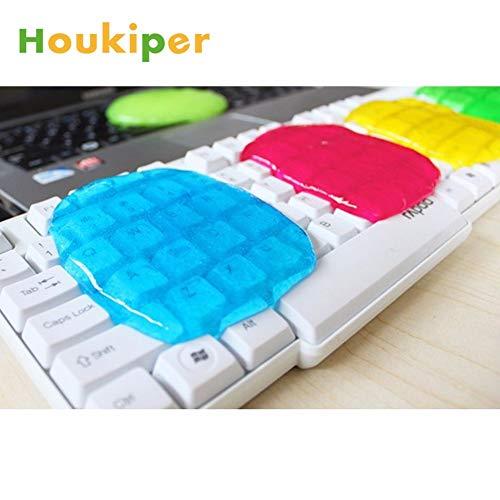 Tomeco Houkiper - Aspiradora multiusos con pegamento suave y pegajoso para limpiar el interior del coche