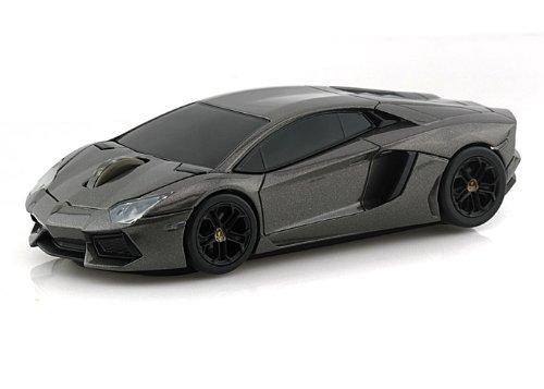 Lamborghini Aventador Wireless Computer Mouse -- Grey