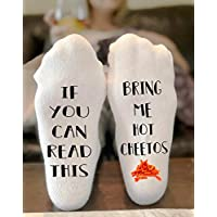 If You Can Read This Bring Me Hot Cheetos socks Novelty Funky Crew Socks Men Women Christmas Gifts Cotton Slipper Socks