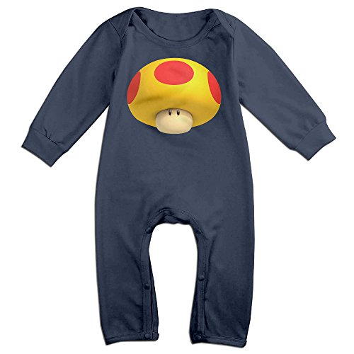 [HOHOE NewBorn Super Mushroom Long Sleeve Jumpsuit Outfits Navy 18 Months] (Fire Dog Costume For Toddler)