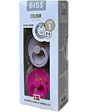 BIBS Baby Pacifier - BPA-free Natural Rubber - DuskyLilac Raspberry
