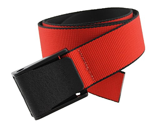 Titan Web Belt Made in USA by Thomas Bates (Red Usa Metal)