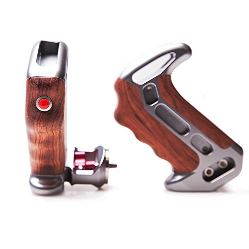 Tilta T-0507 Wooden Side Hand-grip for BMCC Camera w/ REC Trigger button(pair) by Tilta
