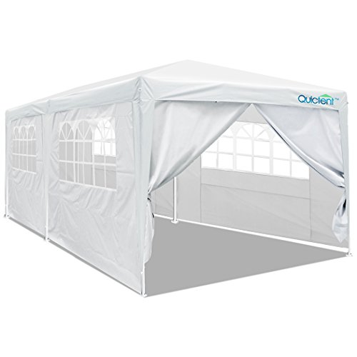Quictent 10' x 20' Party Tent Gazebo Wedding Canopy BBQ Shelter Pavilion With Removable Sidewalls & Elegant Church (10x20 White Party Tent Gazebo)