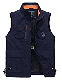 Mens Outdoors Quick-drying Travel Sports Pockets Vest Waistcoat Outerwear