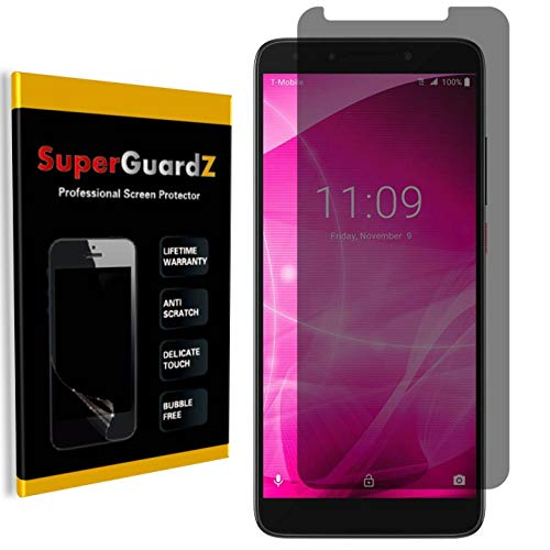for T-Mobile Revvl 2 Plus/Alcatel 7 Screen Protector [Privacy Anti-Spy], SuperGuardZ, Anti-Glare, Anti-Scratch, Anti-Bubble [Lifetime Replacement]