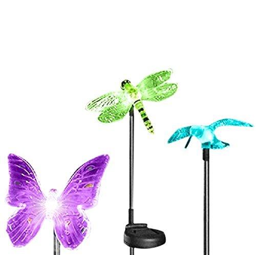 oxyled solar garden lightshummingbirdbutterfly dragonfly solar garden stake lightsolar powered lights outdoor multi color changing led light solar - Solar Garden Decor