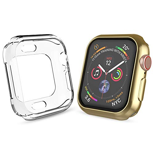 UMTELE Compatible for Apple Watch 4 Case 40mm, Soft Plated TPU Protective Case Slim Flexible Bumper Cover Compatible for Apple Watch Series 4, 40mm