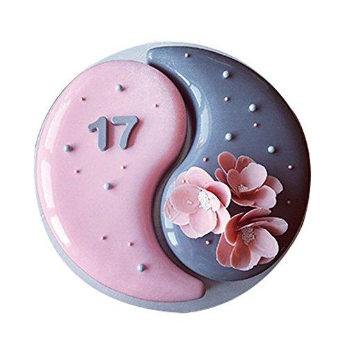 2500 Chocolate - Emousport 2PCS Silicone YIN YANG 2500 Cake Mold For Chocolate Brownie Dessert Mousse Baking Pan