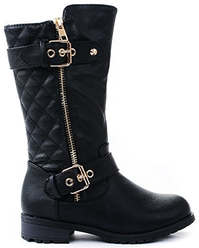 Leather 4 Buckle Boots - 2