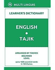 English-Tajik Learner's Dictionary (Arranged by Themes, Beginner Level)