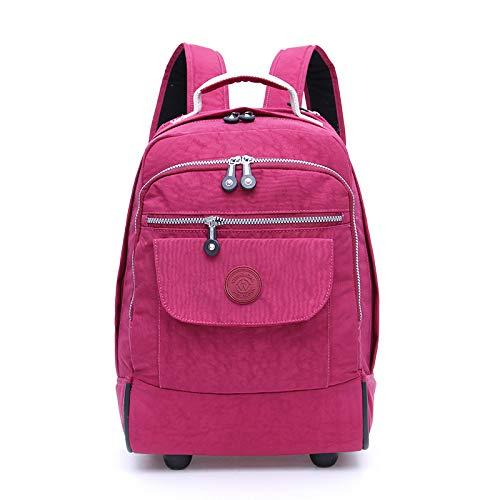 車輪付きラップトップバックパック、ハイスクール、カレッジバックパック、ローリングスクールバッグ、ビジネスバックパックに最適。 B07GZK2XSG ピンク