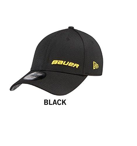 Bauer New Era 39THIRTY Supreme Hockey Hat Black/Yellow Logos (S/M) ()