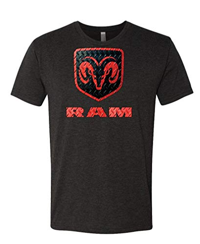 - Diamond Plate Dodge RAM Trucks - Licensed - Unisex Next Level Tee, XL, TRI-Blend Black