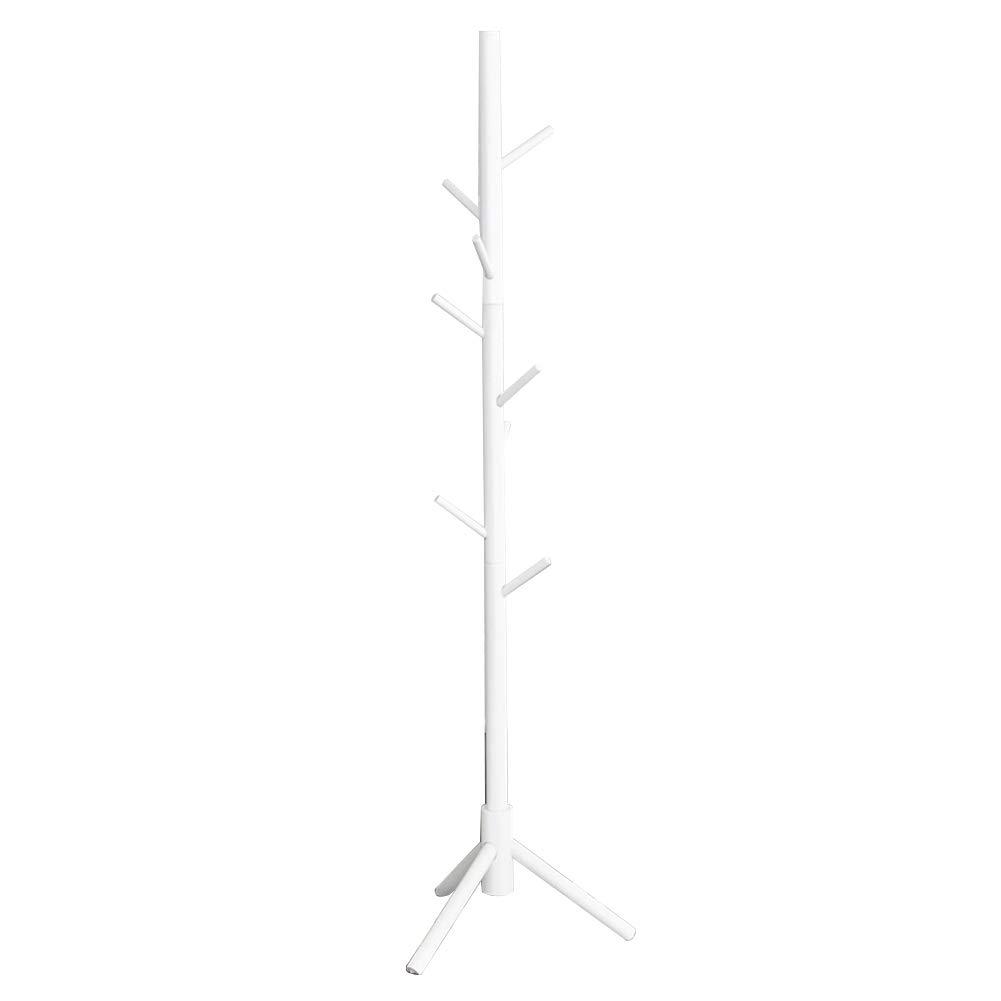 JIANFEI Floor Standing Coat Rack Hat Stand Hanger Pure Solid Wood Cross Hook Triangular Bracket Waterproof,3 Colors (Color : White, Size : 48x171cm)