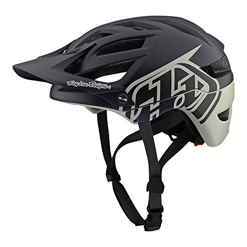 Troy Lee Designs Adult | Trail | Enduro | Half Shell A1 Classic Mountain Biking Helmet with MIPS (Medium/Large, Black/Stone)
