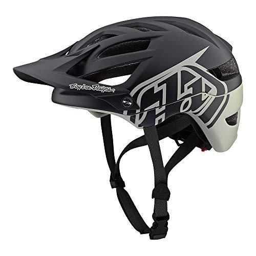 Troy Lee Designs Adult | Trail | Enduro | Half Shell A1 Classic Mountain Biking Helmet with MIPS (Medium/Large, Black/Stone) (Classic Bike Helmet)