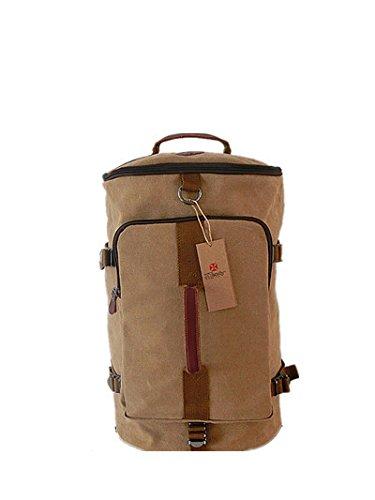 Bolso de lona de alta capacidad cilindro estilo monta?a bolsas de los hombres , coffee color coffee color