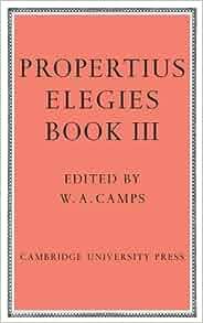 Amazon.com: Elegies Bk 3 Camps (9780521109482): Propertius ...