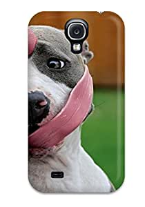 Galaxy Case For Galaxy S4 With Nice Dog With Long Tongue Appearance