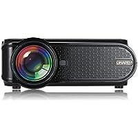 2000 Lumens 1080P HD 3D LED Projector Home Theater Cinema Video USB USB SD HDMI Black