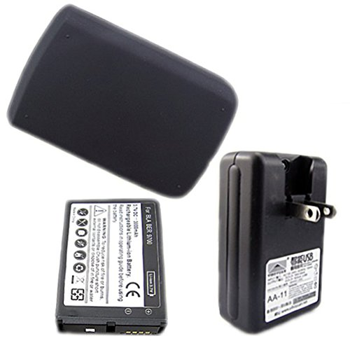 Chariot Trading - 3000mAh Extended Rechargeable Battery + Back Cover Case+Wall charger for Blackberry Storm 9700 - CJ-BG-000569