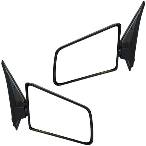 85-94 Chevy S10 Blazer Manual Black Rear View Mirror Left /& Right Side SET PAIR