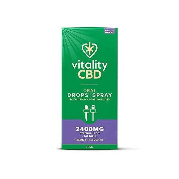 Vitality CBD Oral Drops Spray 2400mg, Berry, 30ml