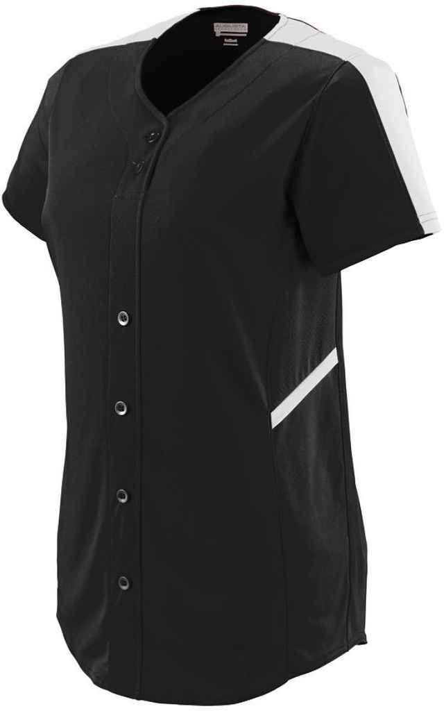 Augusta SportswearレディースCloser Softball Jersey B00P53W03W XL|ブラック/ホワイト ブラック/ホワイト XL