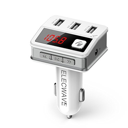 8. Elecwave EB02 Wireless Bluetooth In-Car FM Transmitter Radio Adapter