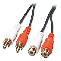 35481 2m Audio Extension Cable - 2 x Phono Male to 2 x Phono Female, Premium