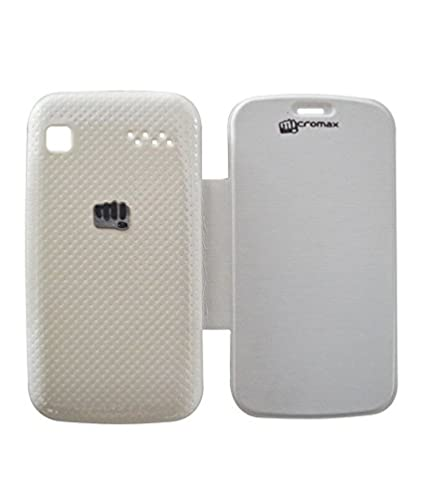 on sale 5ea05 90149 Micromax Bolt A35 Flip Cover - White: Amazon.in: Electronics