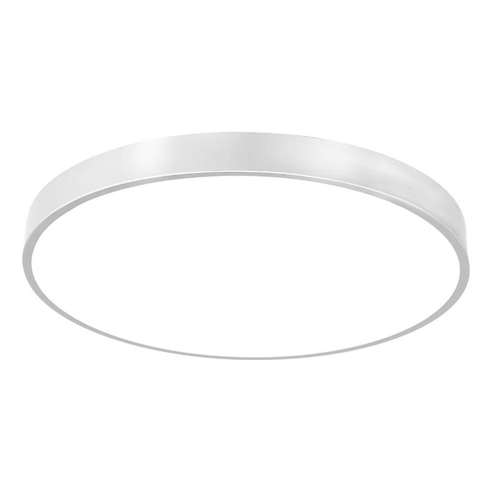 Ultradünne runde led deckenleuchte silber einfache moderne schlafzimmer zimmer studie Nordic Warm romantische dekoration Lampe (Größe   40CM)