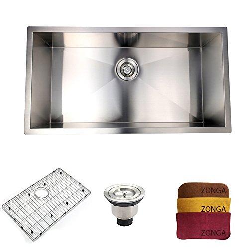 Zonga Commercial Kitchen Sink 18 Gauge Handmade Stainless Steel ...