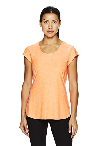 Reebok Women's Legend Performance Short Sleeve T-Shirt With Polyspan Fabric- Neon Tangerine Heather/Orange, X-Small (Womens Legend)