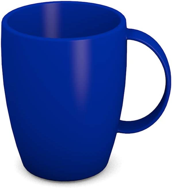 Kaffeebecher Ornamin Becher mit Henkel 260 ml blau // Mehrweg-Becher Kunststoff Modell 420
