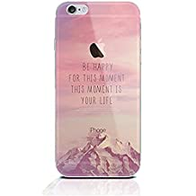 """Case iPhone 7 Plus Cover,TYoung Colorful Embossing Landscape Creative Pattern Ultra Slim Soft TPU Silicone Case Cover for Apple iPhone 7 Plus 5.5"""" Skin Protector - Be Happy"""