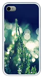iPhone 4S/4 Case Cover - Thuja Occidentalis Bokeh Stylish Custom Design iPhone 4s/4 Case and Cover - TPU - White