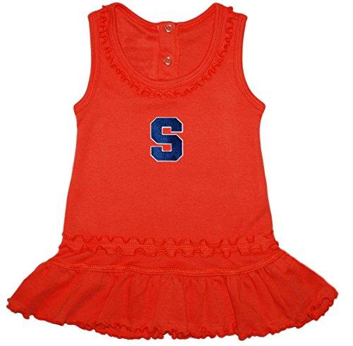 - Syracuse University Ruffled Tank Top Dress with Bloomer Set Orange
