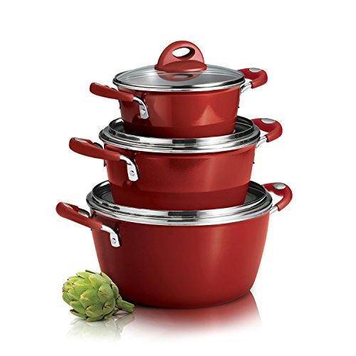 Tramontina 80129/512DS Stackable Aluminum Cookware Set, Made