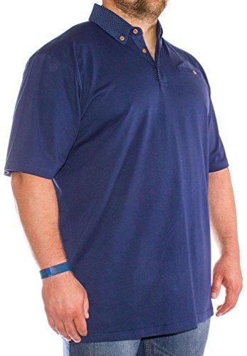 Bigdude Herren Poloshirt blau navy