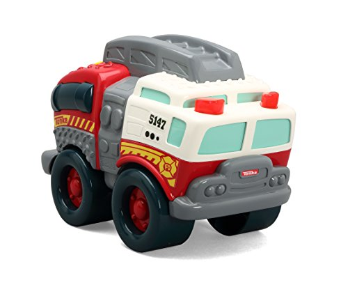 Tonka Light and Sound Wobble Wheels Fire Truck, Red