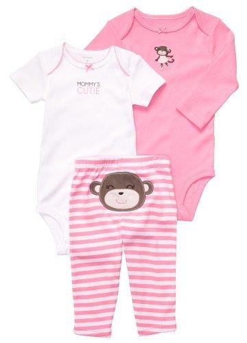 876f1eea3f8 Carter s Baby Girls  3 Pc Turn Me Around Set - Pink Monkey - 9 Months
