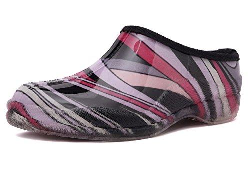 Charles Albert Women's Waterproof Rain and Garden Shoe Slip On Low Boot (11 B(M) US, Purple)