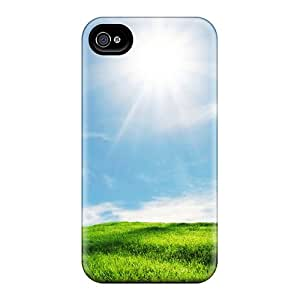New EOVE Super Strong Grass Click At Link To Green Tpu Case Cover For Iphone 4/4s