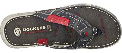 Schwarz 100 Negro Sintético Gerli Dockers Sandalias schwarz Hombre De By Material Para black wx7qzf