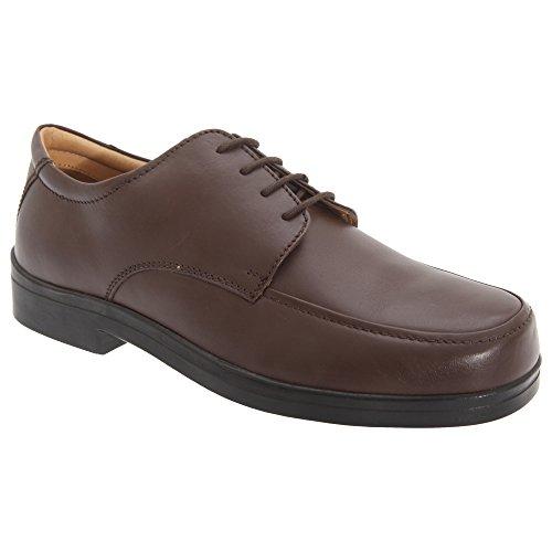 Zapatos Marrón pies Roamers con anchos para Caballero cordones Hombre 1xdOdHpq